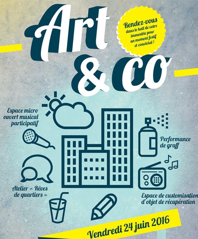 Art&Co : de l'art en pied d'immeuble !